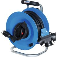 Cable drum; plastic body with 3 outlet sockets