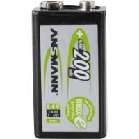 Set of NiMH rechargeable batteries pre-charged