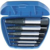 Screw extractor set, 6 pieces, in a box with fine flutes