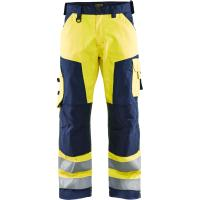High visibility work trousers  yellow/navy blue