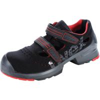 Sandals, black/red uvex 1 x-tended support, S1P