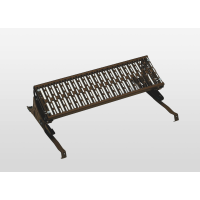 Standing grille brown