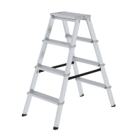 ML double-sided step ladder, double-sided 2x4 steps