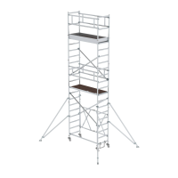 Folding scaffolding 0.75 x 1.80 m with outrigger Platform height 4.80 m