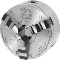 Three-jaw lathe chuck with recessed steel mount  DIN 702-4