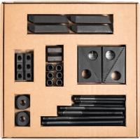 Set of assorted clamping elements
