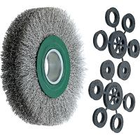 Wire wheel brush (green) Stainless steel wire 0.30 mm