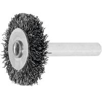 Wheel brush with shank Steel wire 0.30 mm