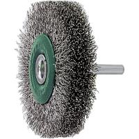Wheel brush with shank Stainless steel wire 0.30 mm