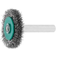Wheel brush with shank Stainless steel wire 0.20 mm