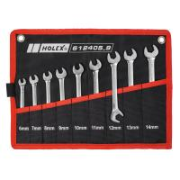 Small double open ended spanner set  chrome-plated