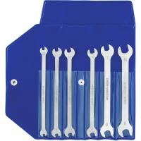 Small double open ended spanner set 6 pieces