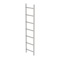 Shaft ladder stainless steel V4A 400 mm clear width 7 rungs
