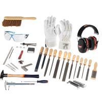 Trainee mechanical fitter's tool kit, 43 pieces for industrial mechanics without folding box