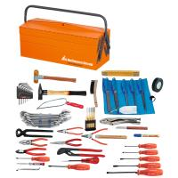 Assembly tool set, 59 pieces with sheet metal toolbox