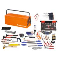 Assembly tool set, 110 pieces with sheet metal toolbox