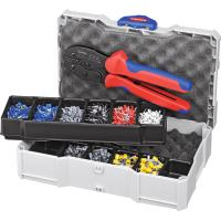Crimping set, terminal sleeves supplied with a PreciForce® crimping tool