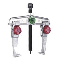 Two-leg extractor with quick adjustment