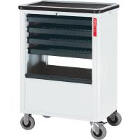 Roller cabinet with 4 pull-out trays