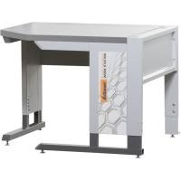 Corner workstation with base frame with Eterlux worktop, light