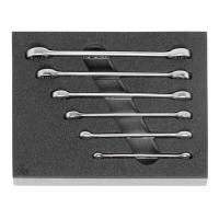 Double-ended ring spanner set