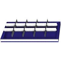 Set of slotted / plain dividers for drawer front height  140 mm