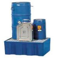 Containment tray for 60 litre drums with galvanised grid