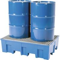Containment tray for 200 litre drums with galvanised grid