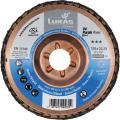 Abrasive flap disc V4 Purple Power, (CER) steel plate, dished for steel and stainless steels