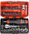 Socket set 1/4 inch square drive 38 pieces