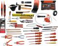 Electrician's tool kit, 82 pieces without case