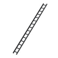 Roof ladder, anthracite grey 15 rungs