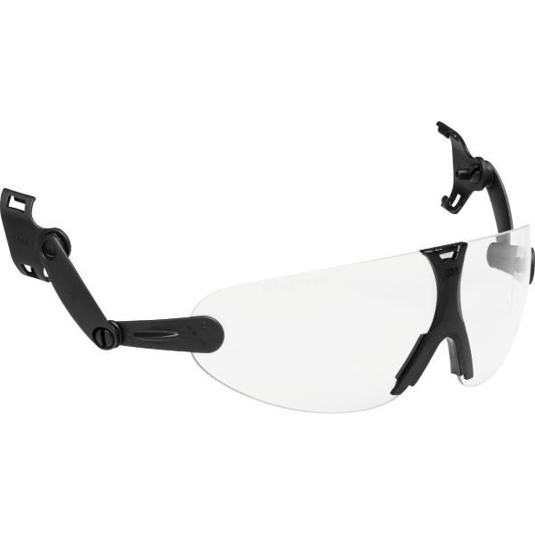 Safety glasses with helmet attachment V9C