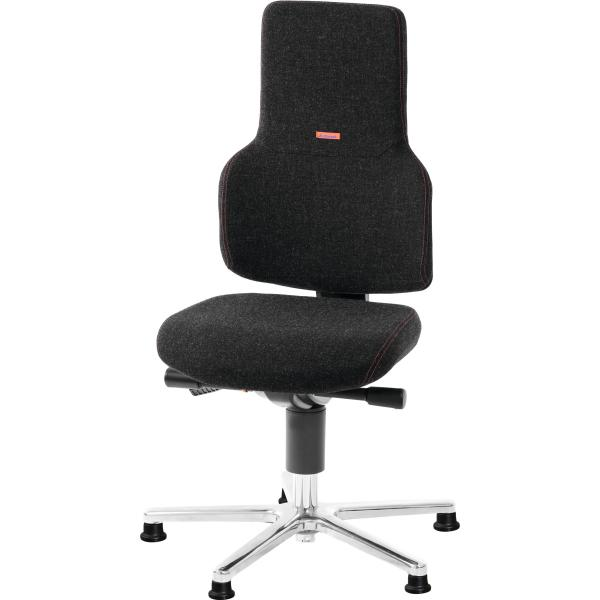 Swivel work chair ESD, fabric padding, with glides, low ESD