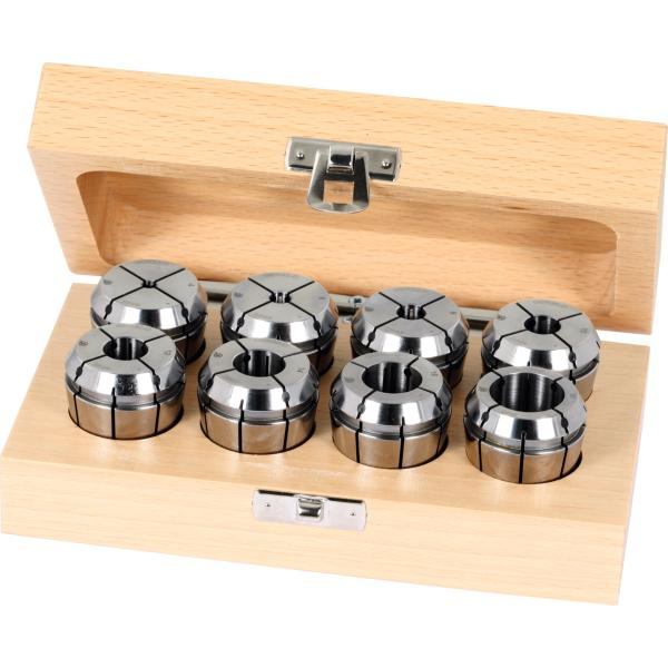 ER collet set 6 pieces, 3, 4, 5, 6, 8, 10 mm with seal