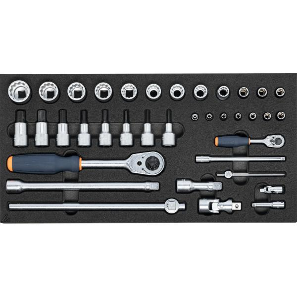 Socket set 1/4 inch and 1/2 inch  37