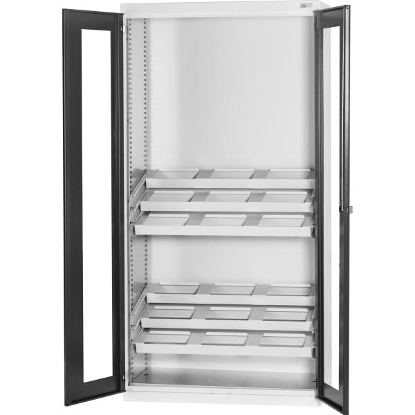 Tool UNIT cabinet (without UNIT) with viewing window swing doors 2000 mm