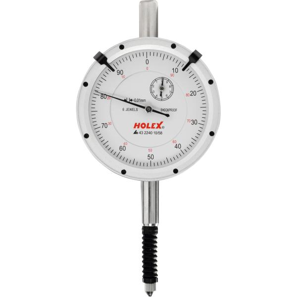 Dial indicator IP54, shock-resistant 10/58 mm