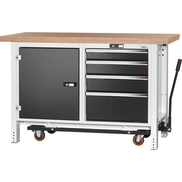 Workbench with undercarriage, height 950mm with beech marine ply workbench top 1500 mm