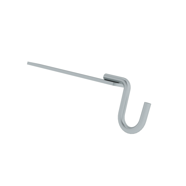 Bucket hook for edged step ladders and rung ladders