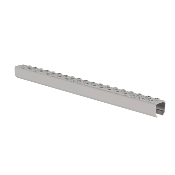 Perforated rung, stainless steel