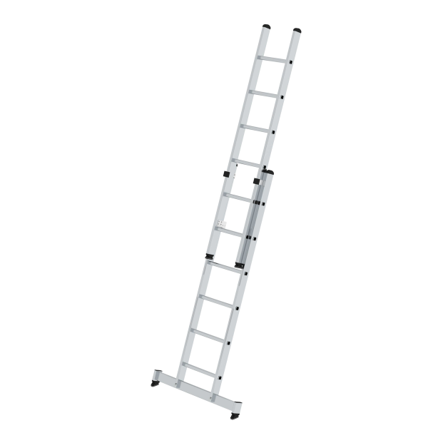 2-section rung push-up extension ladder with nivello® stabiliser 2x6 rungs