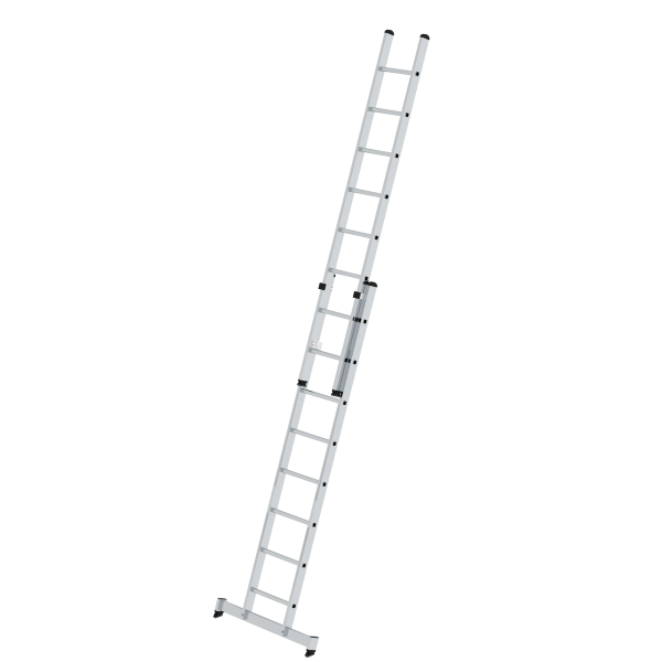 2-section rung push-up extension ladder with nivello® stabiliser 2x8 rungs
