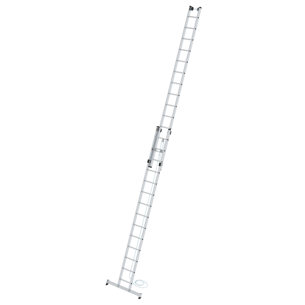 2-section rung rope-extension ladder with nivello® stabiliser 2x14 rungs