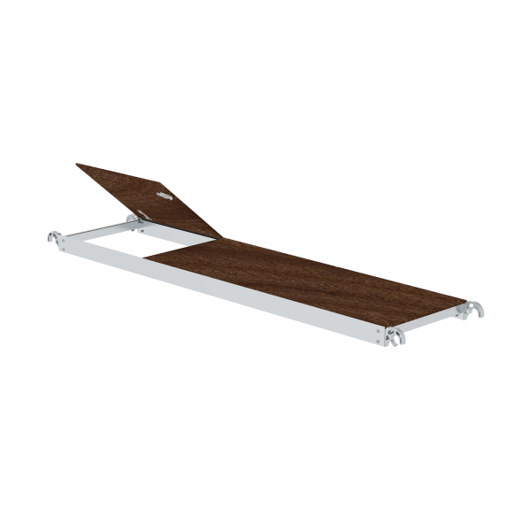 Platform with flap for scaffolding length 2.45 m