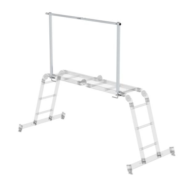 Aluminium railing, clamp-on for order no. 031310, 031312 and 031314