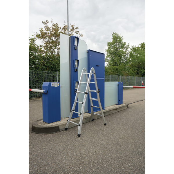 Telescopic ladder 4-section without stabiliser 4x6 rungs