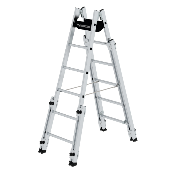 Double-sided rung ladder suitable for stairs 2x6 rungs