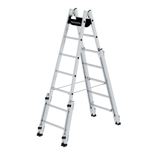 Double-sided rung ladder suitable for stairs 2x7 rungs