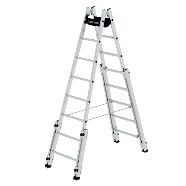 Double-sided rung ladder suitable for stairs 2x8 rungs